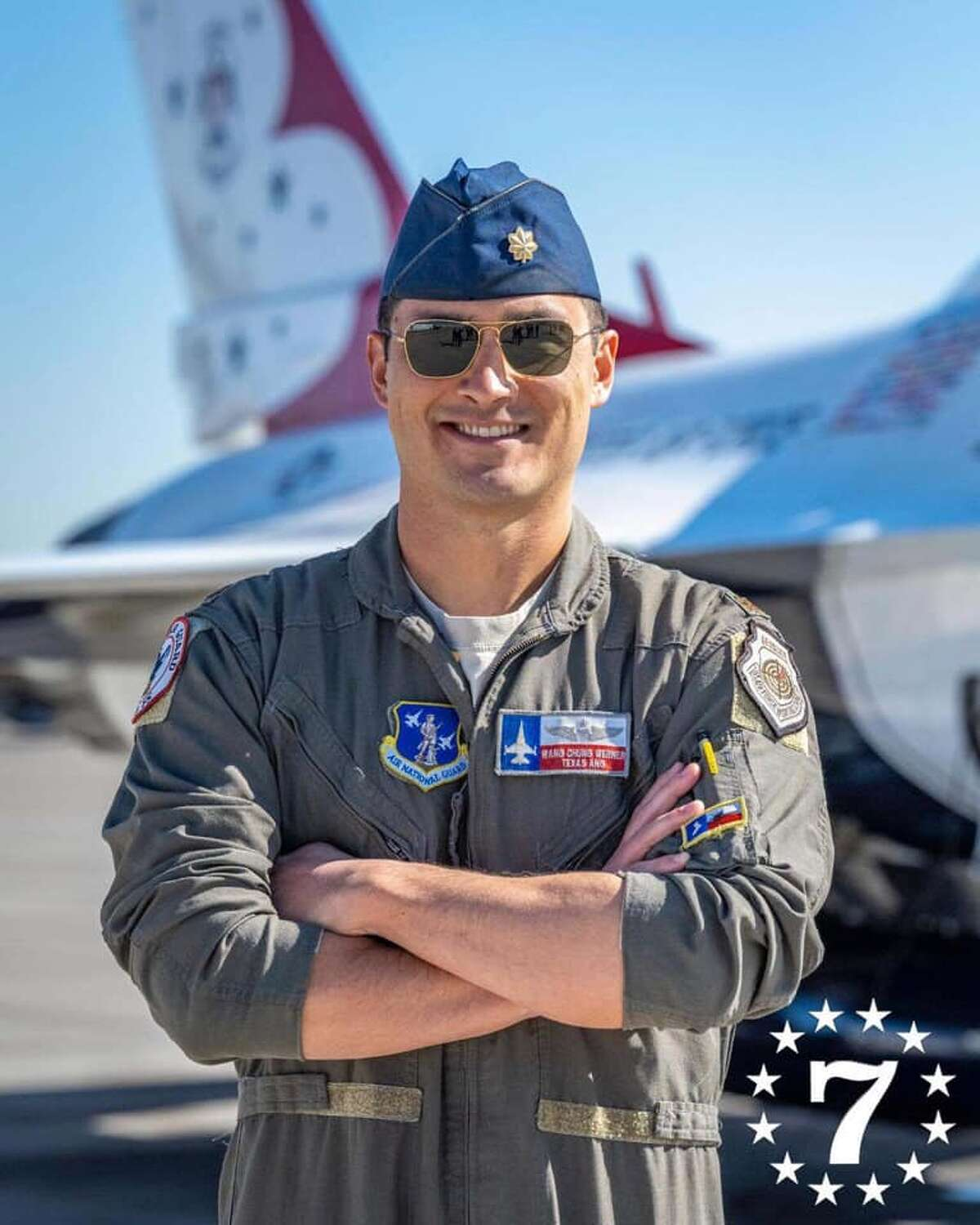 """The United States Air Force Air Demonstration Squadron, known as the """"Thunderbirds,"""" announced selections for the 2021-2022 show seasons on Wednesday. Maj. Thomas Werner, of the 182nd Fighter Squadron at Texas Air National Guard, will fly the No. 7 jet, serving as the team's operations officer."""