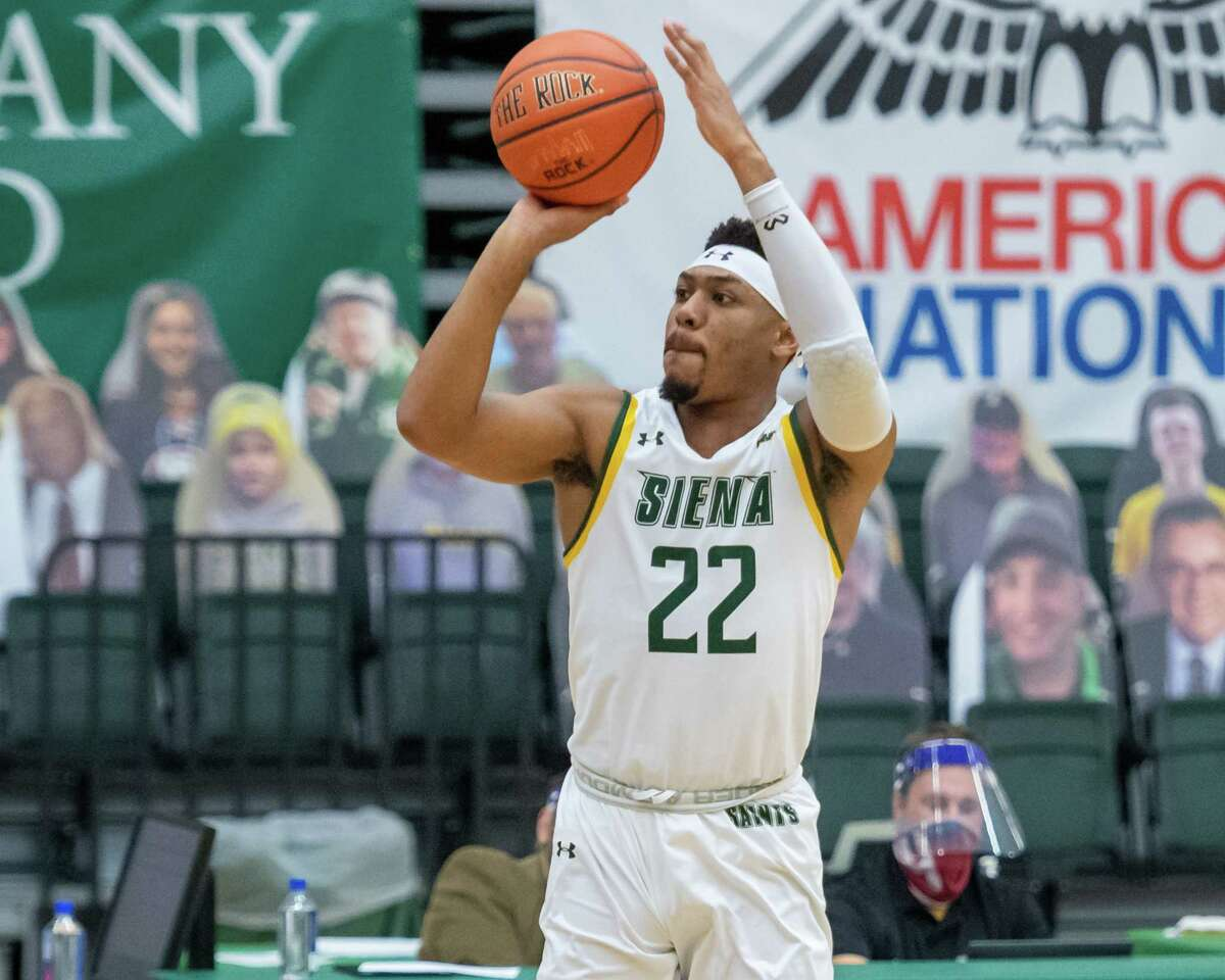 Siena College junior Jalen Pickett says it would mean a lot to him and his teammates to go into the MAAC Tournament with the top seed. (Jim Franco/Special to the Times Union)