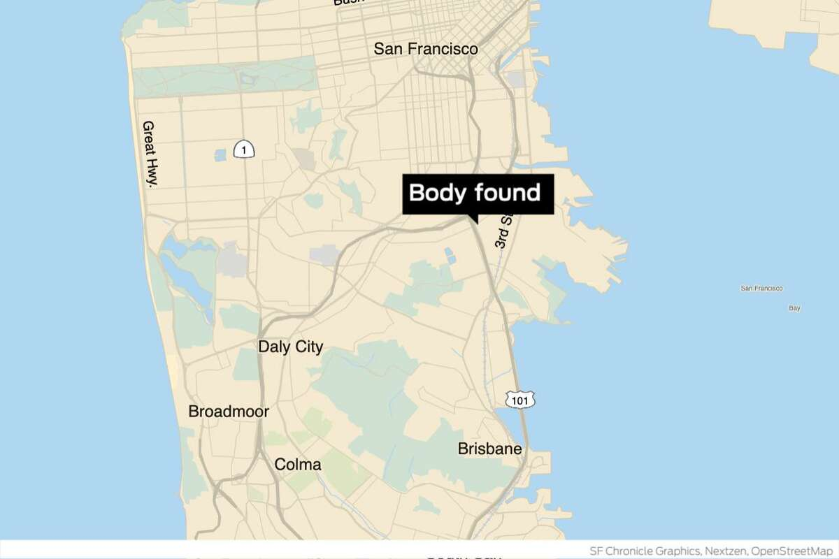 A body was found in San Francisco Friday on a raised embankment on Highway 101 near the intersection of Silver Avenue and Bayshore Boulevard.
