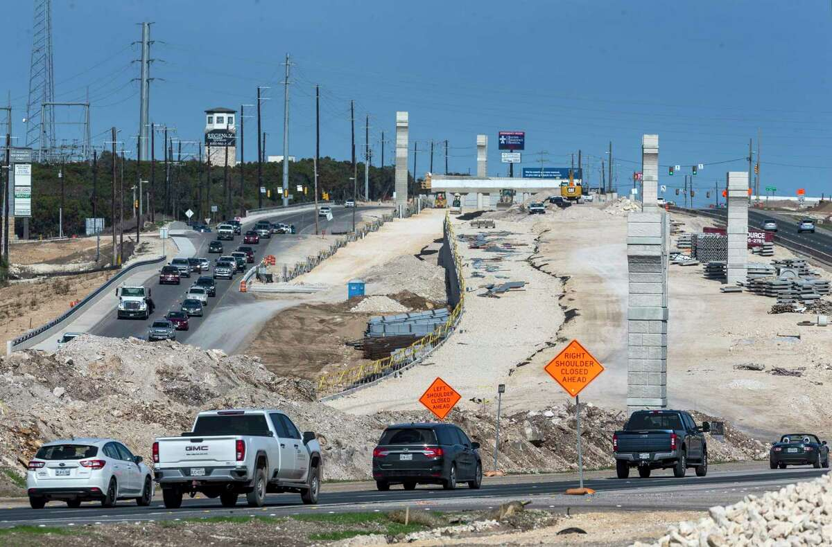 Construction along U.S. 281 between Wilderness Oak and Marshall Road in January. Possible infrastructure funding legislation in Congress in the coming months has local governments dusting off their priorities.