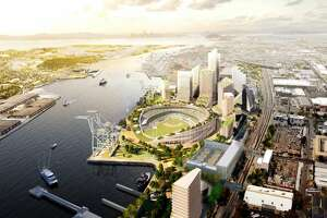 The Oakland A's slightly revised the design of their proposed Howard Terminal stadium from a diamond shape to a circular design.