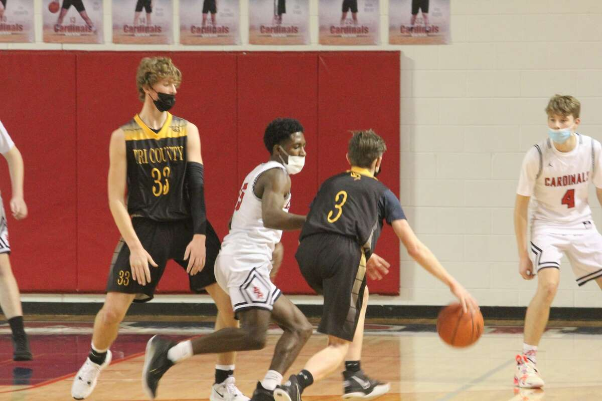 Big Rapids hit 13 triples in a 53-29 win over Tri County on Friday.