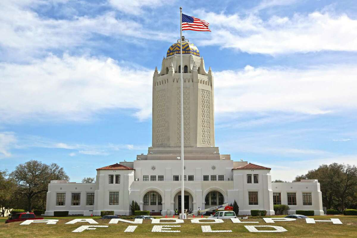 """Joint Base San Antonio-Randolph's most iconic structure, commonly referred to as the """"Taj Mahal,"""" was finished in 1931 at what was then Randolph Field for $252,000 - equating to $3.8 million today."""