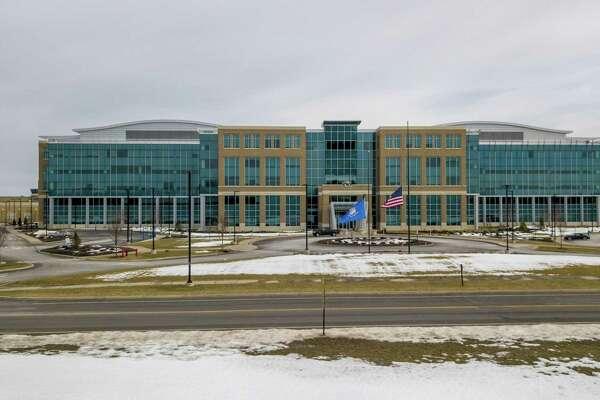 Pratt & Whitney headquarters in East Hartford, Conn., on Feb. 24, 2021.