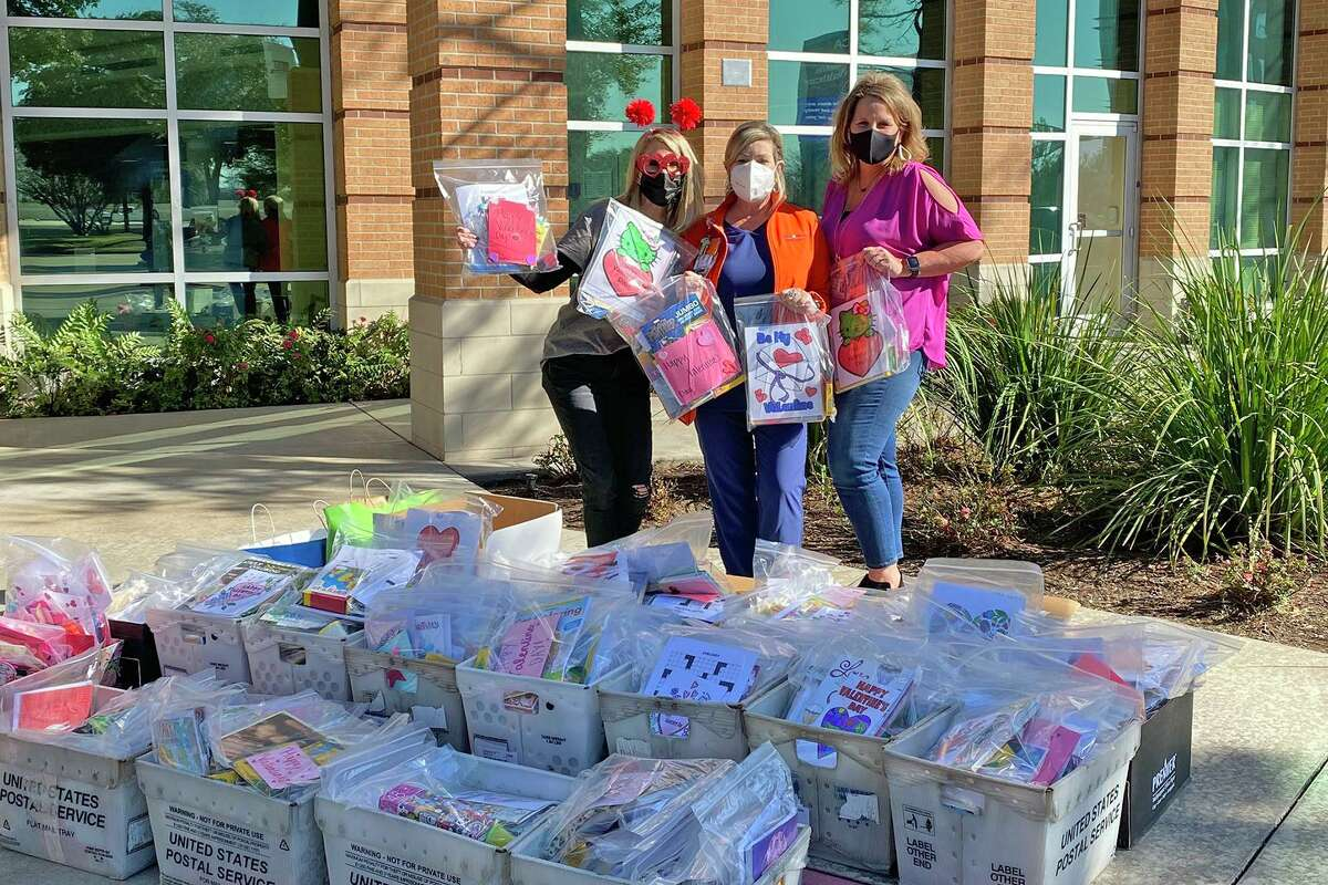 Cy Falls High School student groups and staff members collaborated to donate bags of coloring books, crayons, playing cards and other fun items to help boost morale for patients in isolation at HCA Houston Healthcare North Cypress.