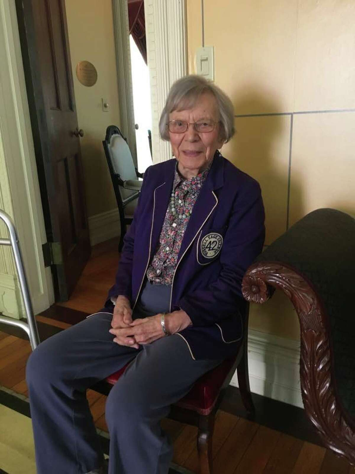 Eugenia Rutherford attending her 75th reunion at Russell Sage College in 2017. (Contributed photo.)