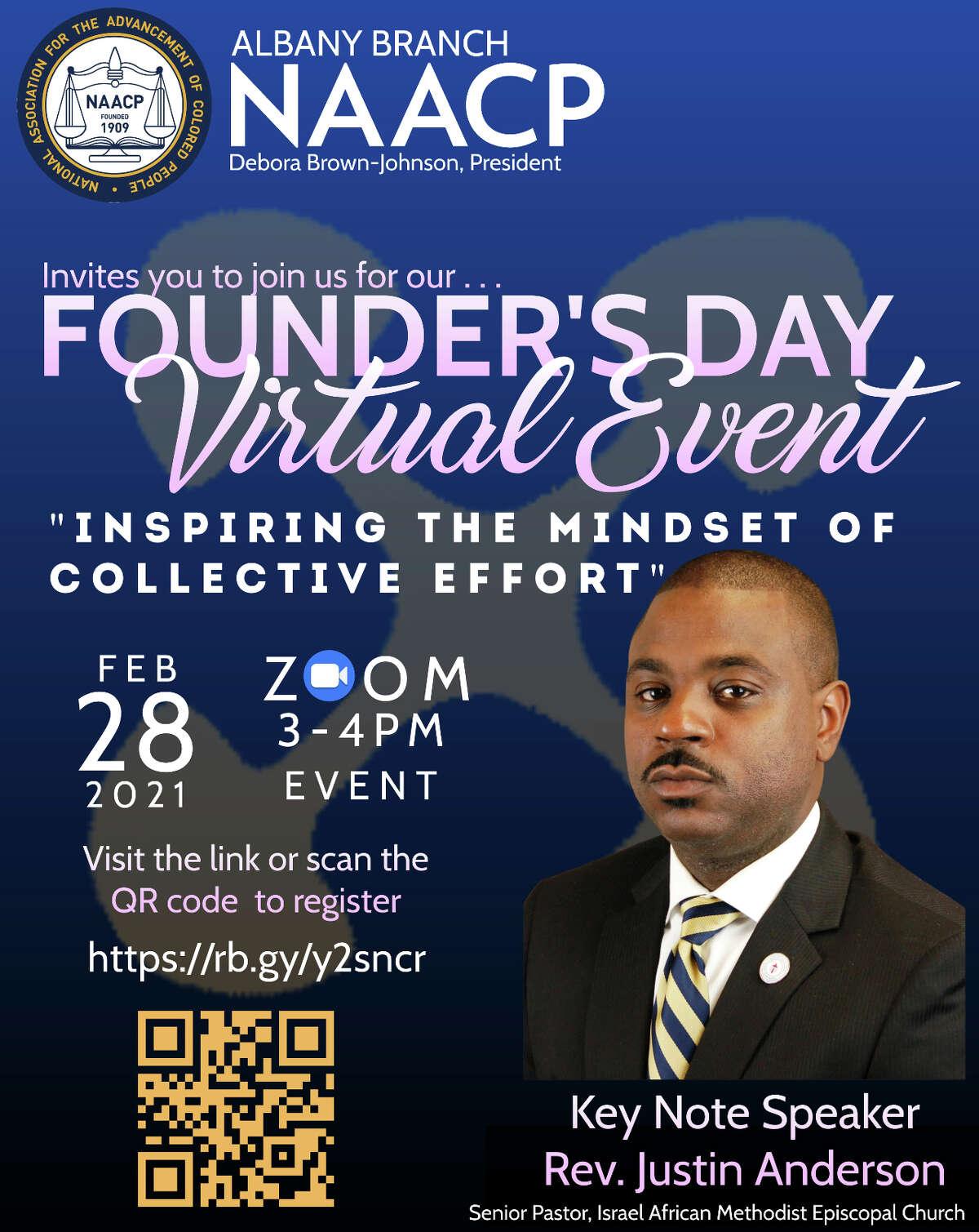 Abany NAACP will mark Founders Day Sunday, Feb. 28.