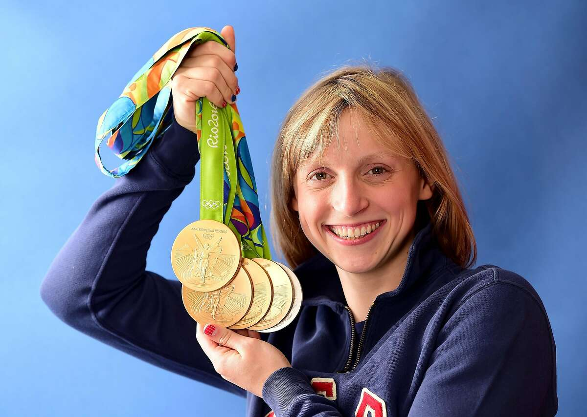 Katie Ledecky won five medals - 4 gold and a silver - in 2016.
