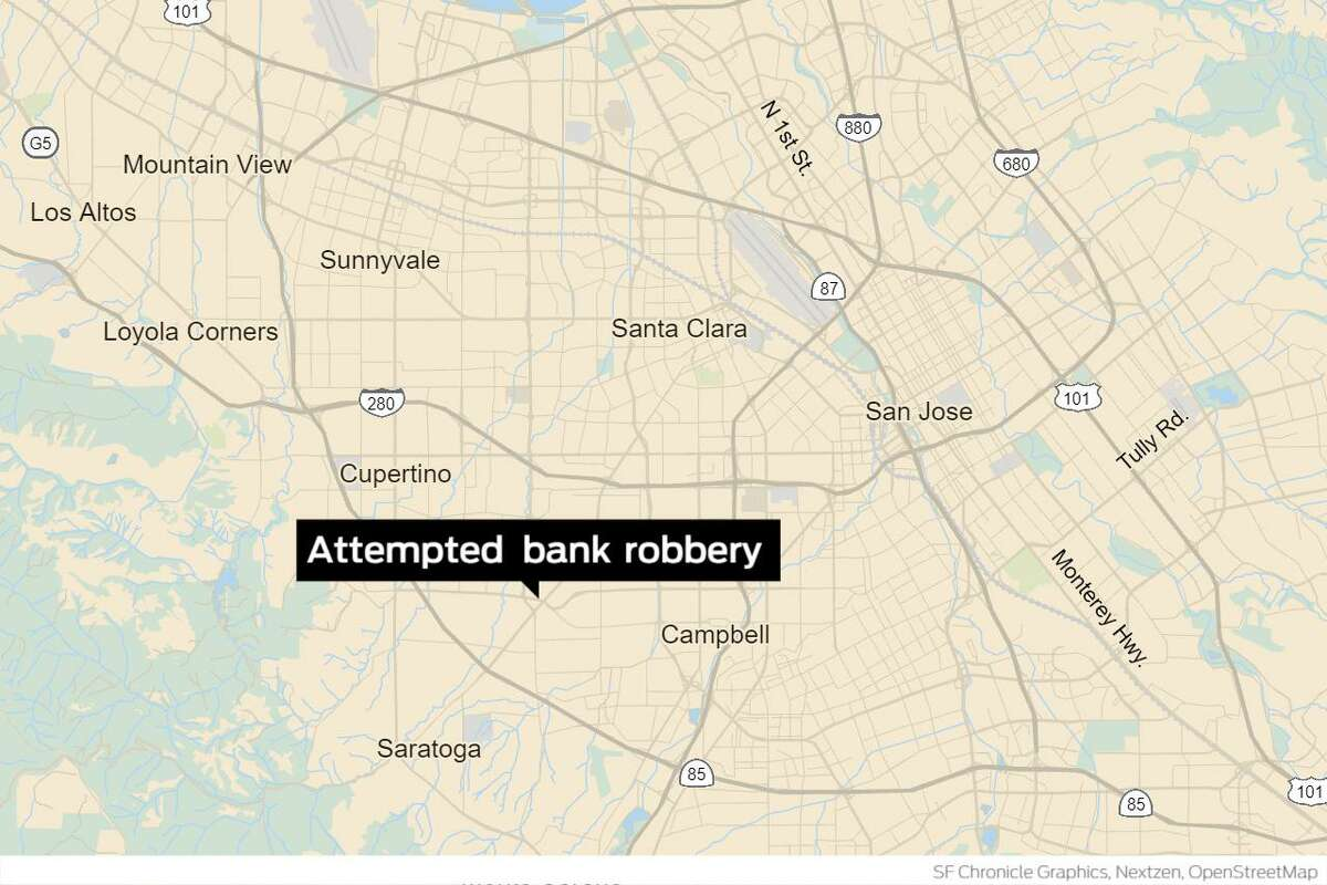 The attempted robbery occurred in the 1700 block of Saratoga Avenue, about 4 miles west of downtown.