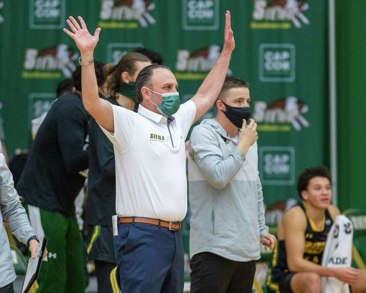 Coach Carm Maciariello has led Siena to the Metro Atlantic Athletic Conference regular-season title in each of his first two seasons. (Jim Franco/Special to the Times Union)