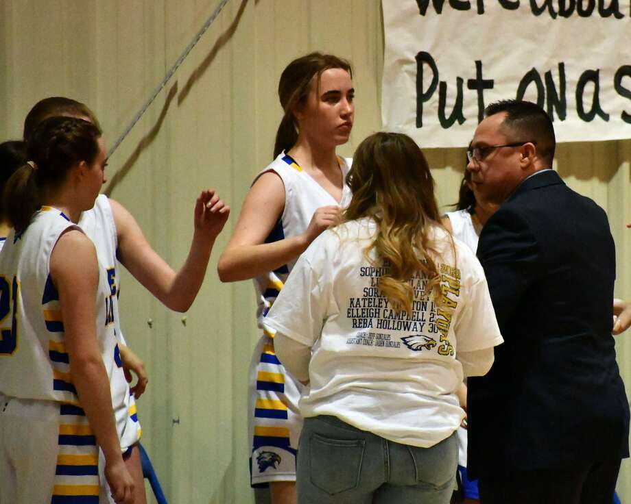 Plainview Christian Academy routed Athens Christian 81-18 in the bi-district round of the TAPPS girls basketball playoffs on Saturday. Photo: Nathan Giese/Planview Herald