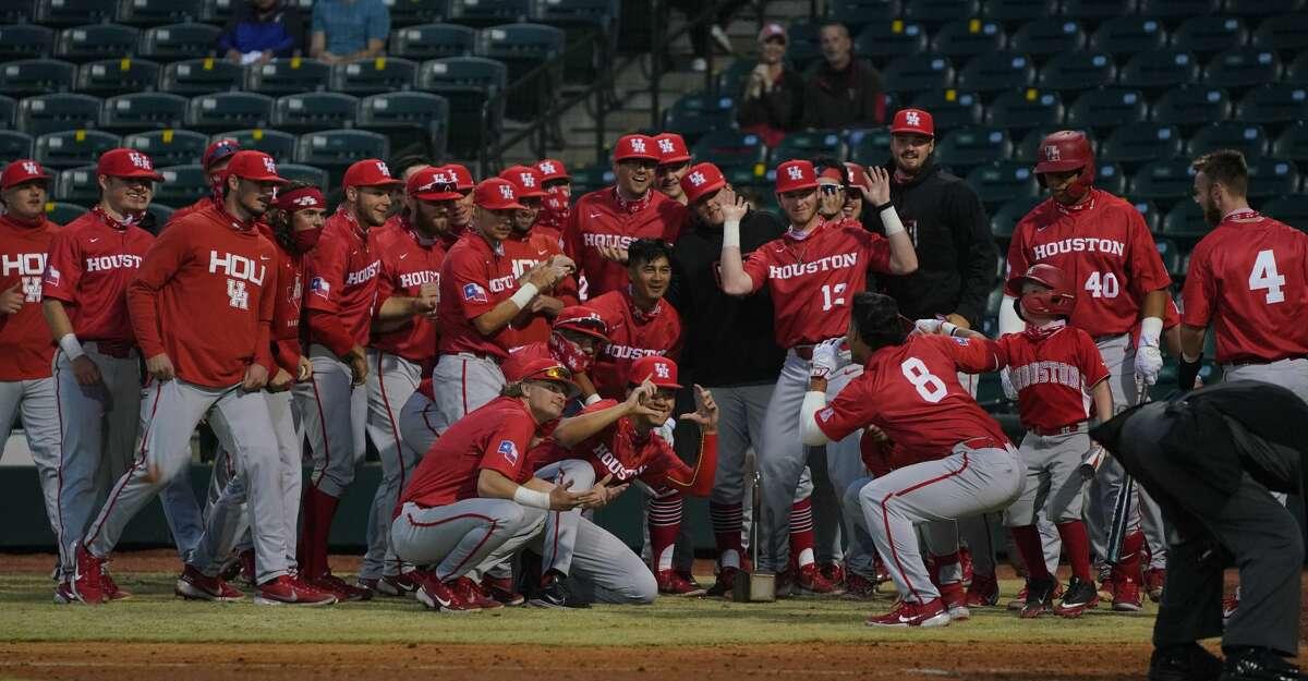 UH set a school record for home runs in a win over Texas A&M-Corpus Christi on Saturday.