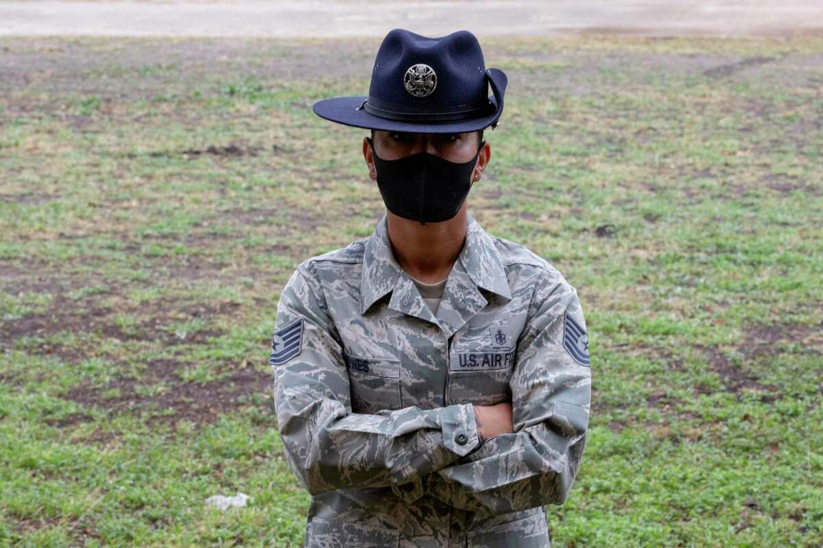 Tech Sgt. Mikesha Jones, a training instructor at Joint Base San Antonio-Lackland, says she gets as much from the young recruits she trains as she hopes they get from her.