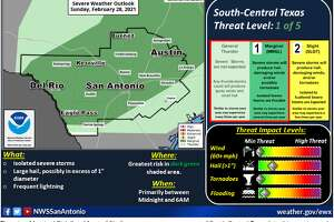 Cold front bringing a marginal risk for severe weather on Sunday night