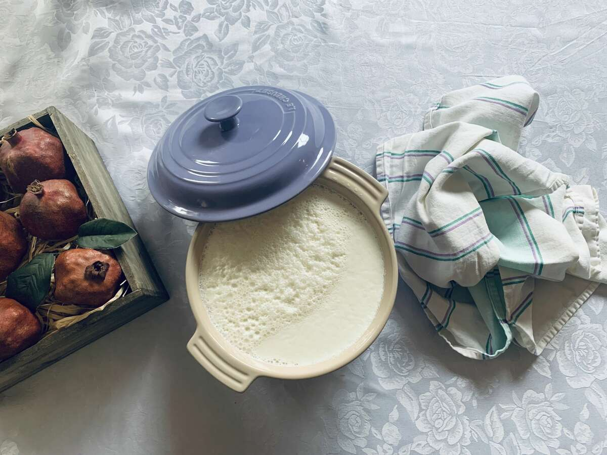 Homemade yogurt made by Liana Aghajanian with an ancient starter that an Armenian family brought to the U.S. many generations ago. Armenians were responsible for the first commercial production of yogurt in America.