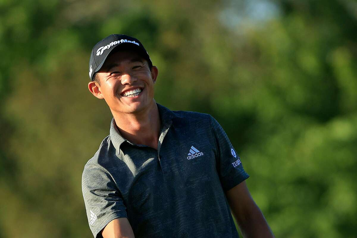 Cal alum Collin Morikawa smiles on the 16th green during the final round of World Golf Championships-Workday Championship at The Concession on Sunday.