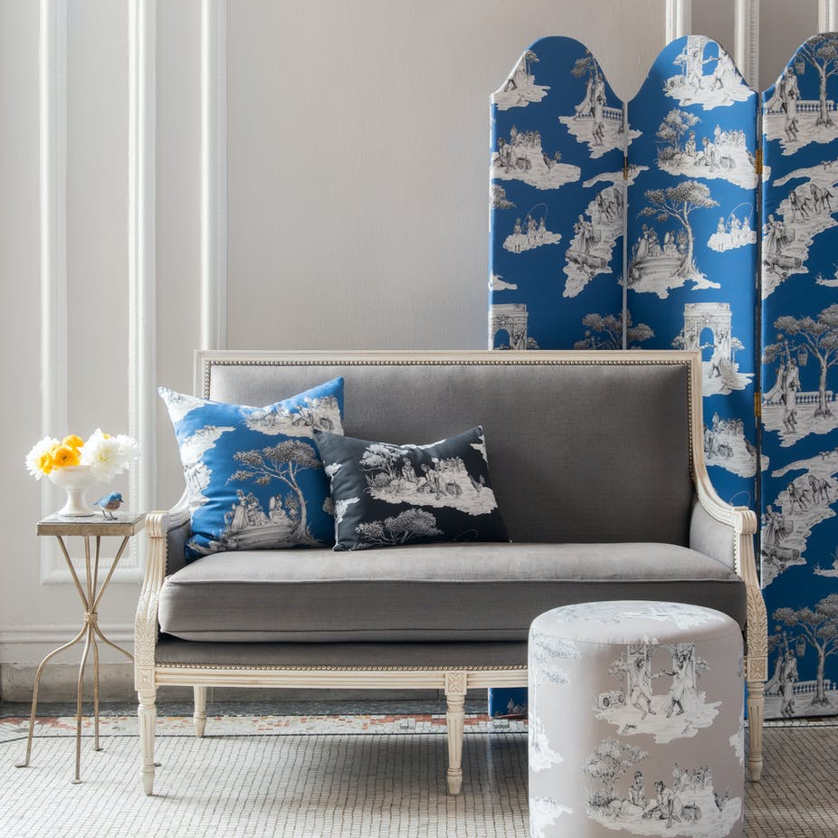 Designer Sheila Bridges found the perfect toile at The Inside | Choose from an assortment of patterns, fabrics and styles at The Inside.