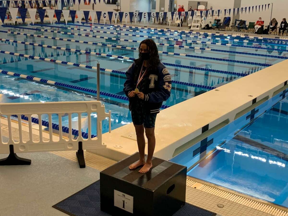 Katy Taylor senior Abbie Alvarez won the 200-yard individual medley at the Region V-6A championships, Feb. 5 at the Cy-Fair ISD Natatorium.
