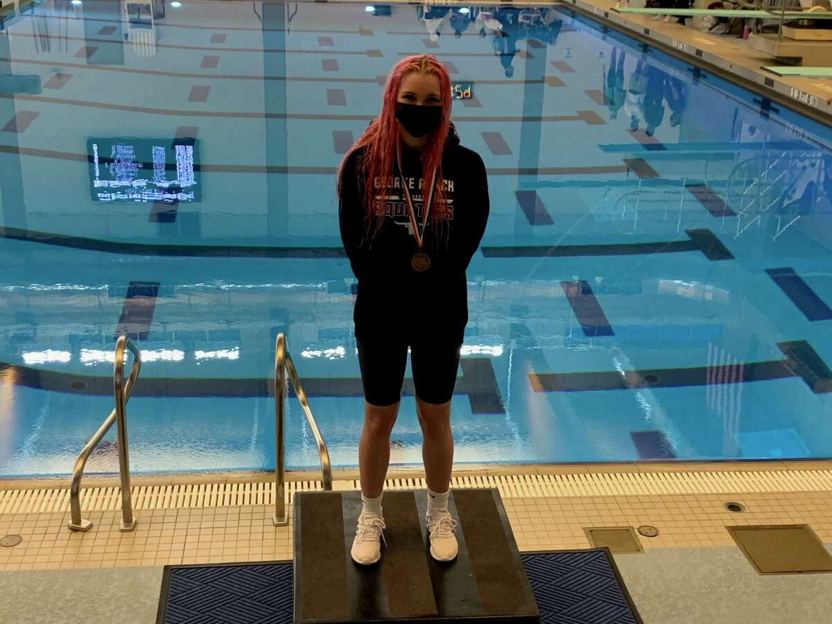 George Ranch senior Keely Rollinson finished third in the 200-yard freestyle at the Region V-6A championships, Feb. 5 at the Cy-Fair ISD Natatorium.
