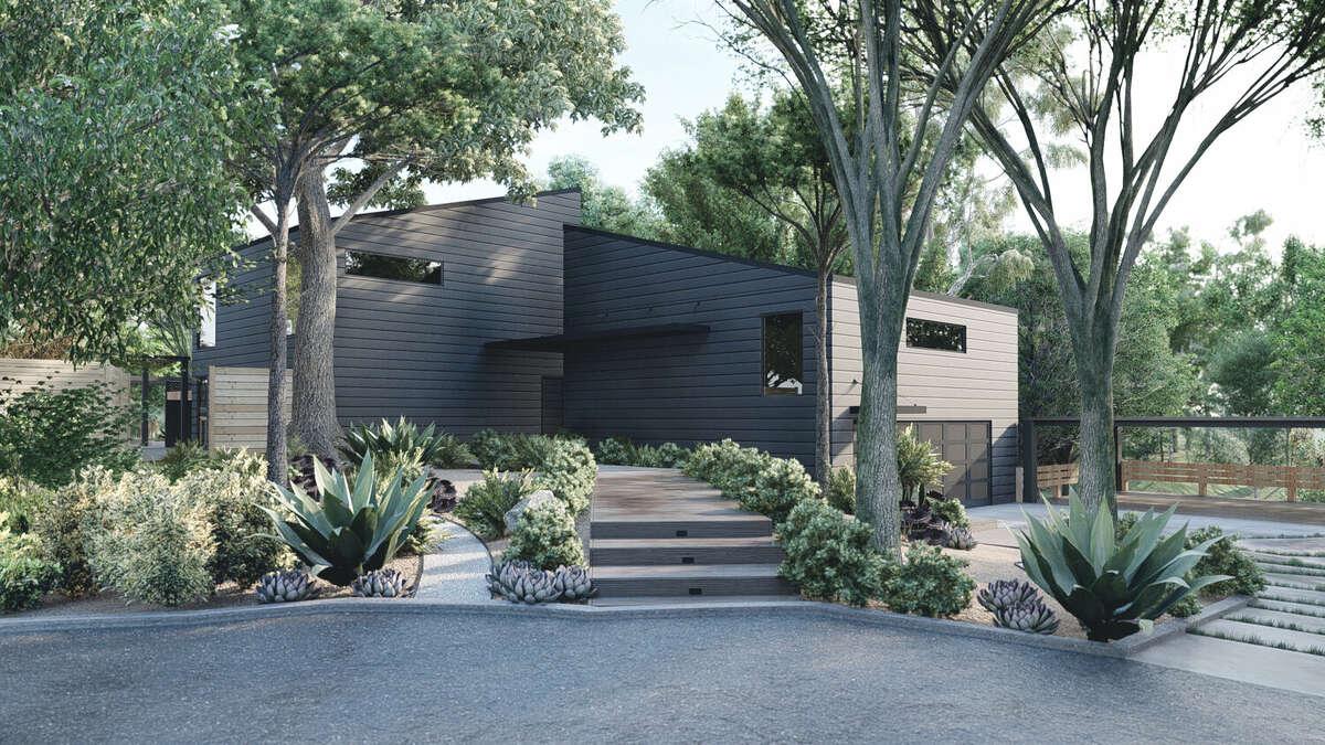 A modern landscape design by Yardzen in Houston, TX.