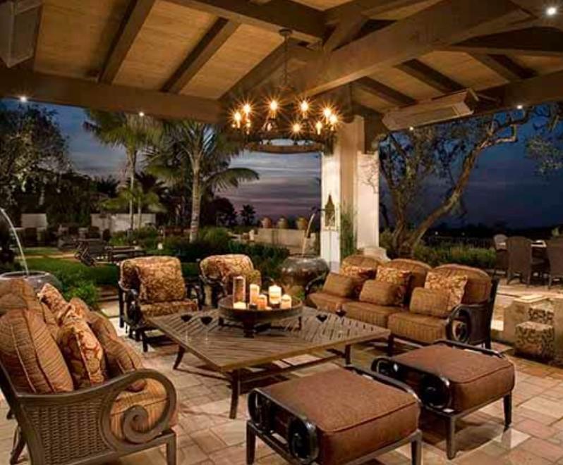 Spanish backyard landscape design by ShrubHub designer, Seasons Landscaping.
