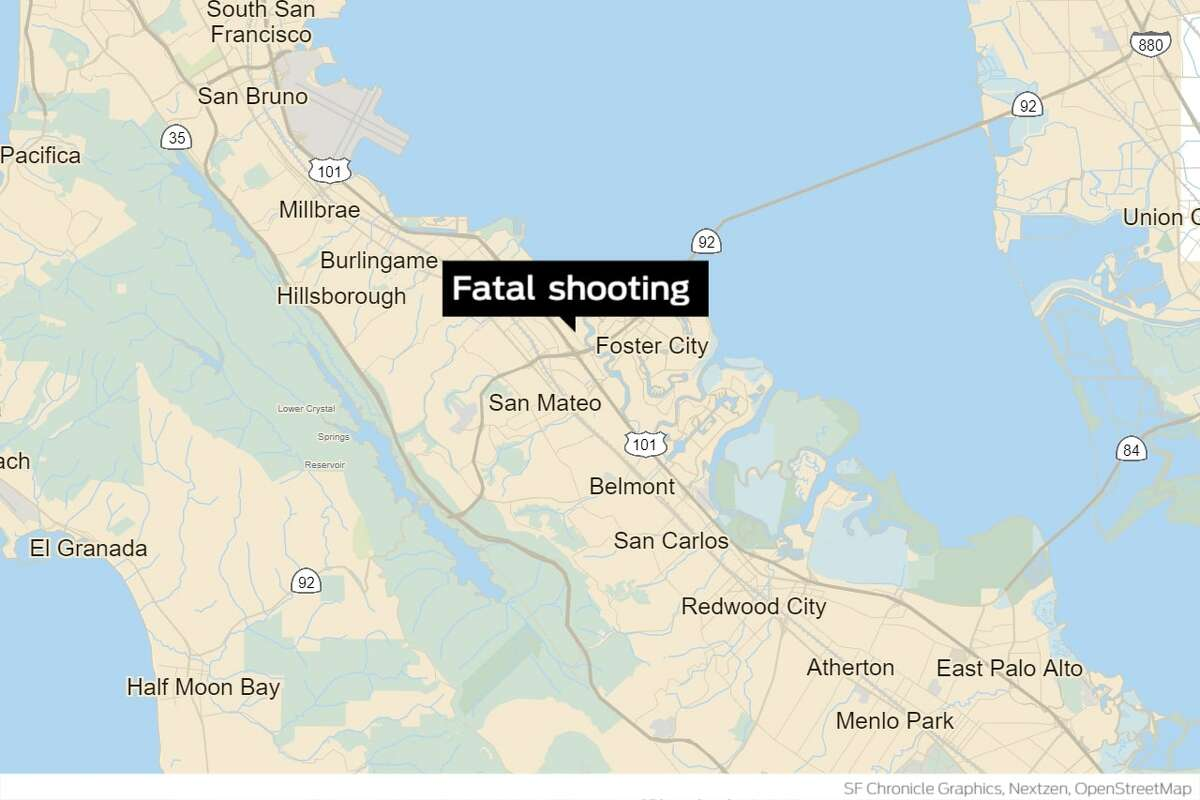 A 57-year-old San Mateo man died on Sunday after his neighbor shot him in the chest.