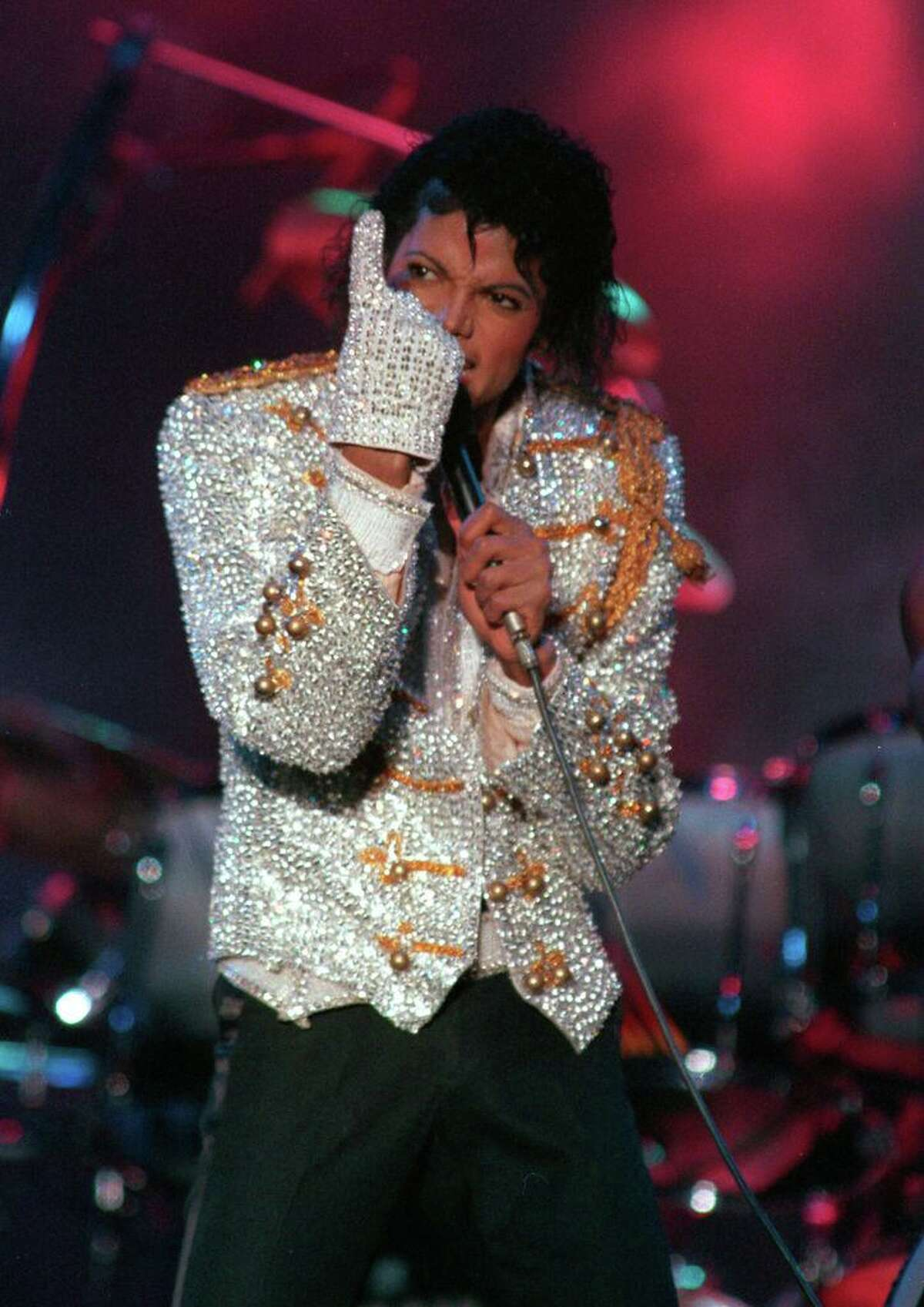 Michael Jackson performs in 1984.