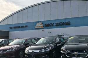 The former Sky Zone trampoline park as seen from Route 5 in Wallingford. The facility, which closed last year, has been put up for sale for $1.3 million, according to officials with Sentry Commercial, the Hartford-based realty firm that marketing the property.
