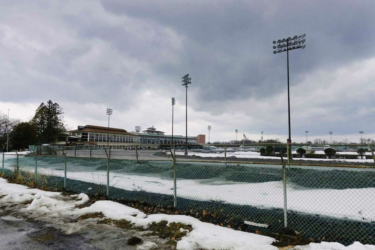 A view of the Saratoga Harness Track on Monday, March 1, 2021, in Saratoga Springs, N.Y. (Paul Buckowski/Times Union)