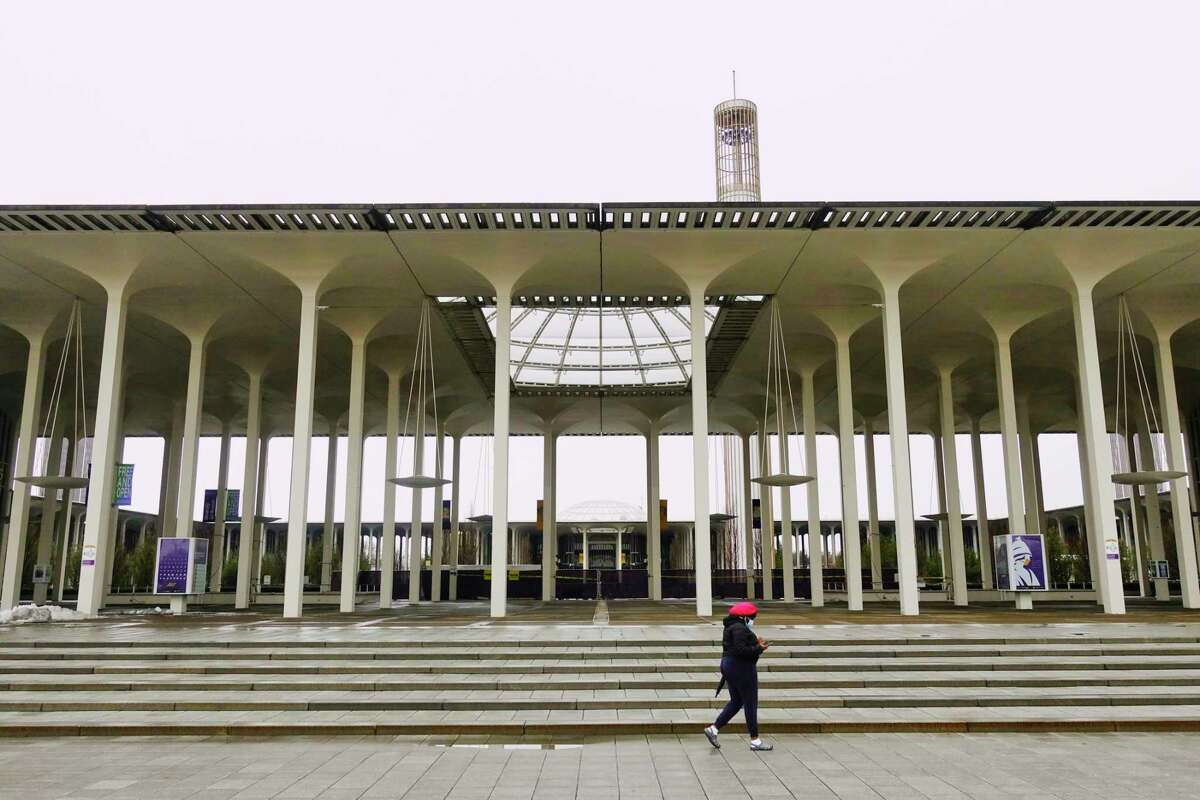 A view of the UAlbany campus on Monday, March 1, 2021, in Albany, N.Y. (Paul Buckowski/Times Union)