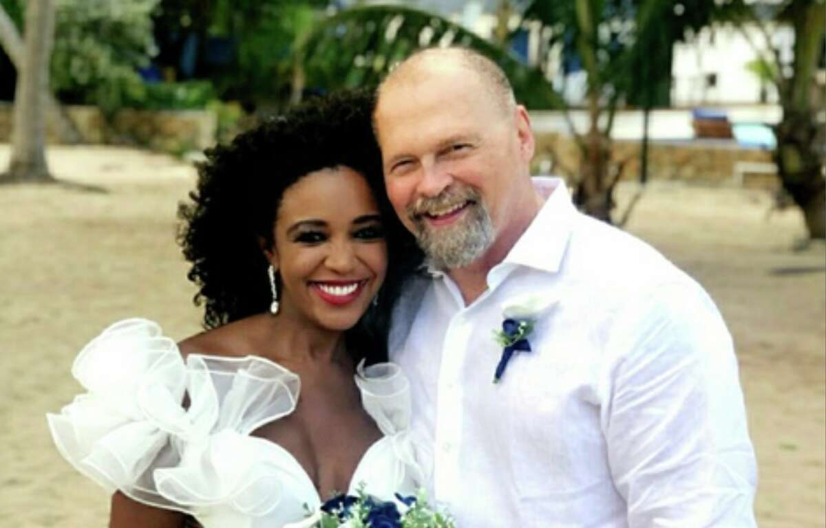 This Houston power couple recently tied the knot just a few months after reconnecting.