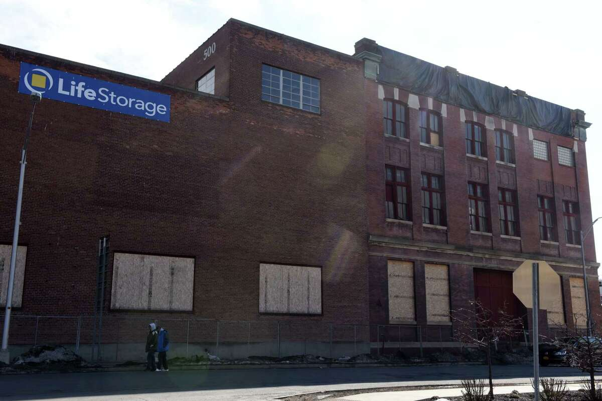 This building at 500 River Street used to be Fitzgerald Brewing, here seen on Friday, Feb. 26, 2021, in Troy, N.Y. (Will Waldron/Times Union)