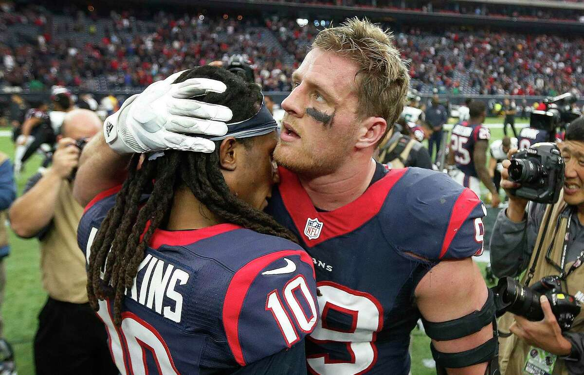 J.J. Watt will rejoin former Texans teammate DeAndre Hopkins in Arizona - with a chance to play their ex-team this fall.