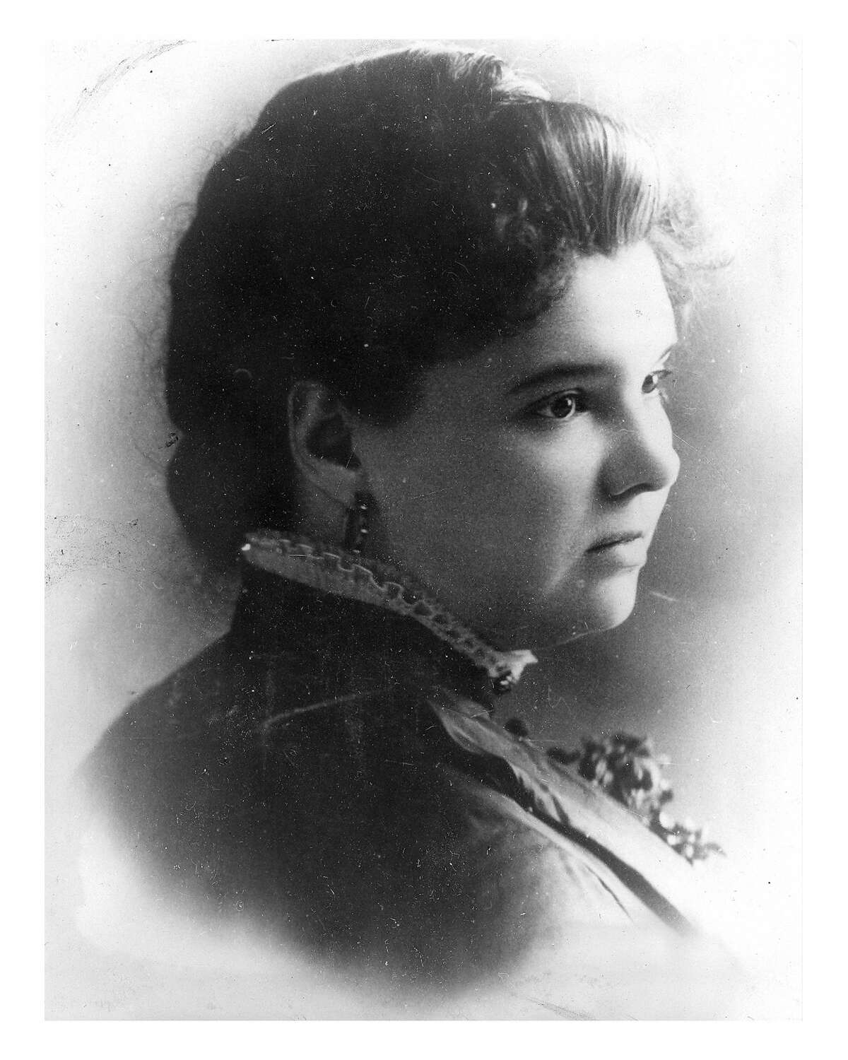 """This photo is labeled Mrs. C.W. (Catherine) Conat and is included in the museum album titled """"Portraits & Poses Album #2."""""""