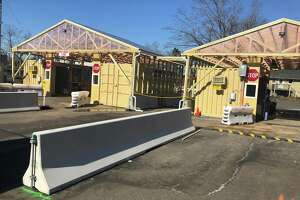 Yale New Haven Health opened a new drive-through COVID-19 testing station at 140 Mill Plain Road in Fairfield on March 1, 2021.