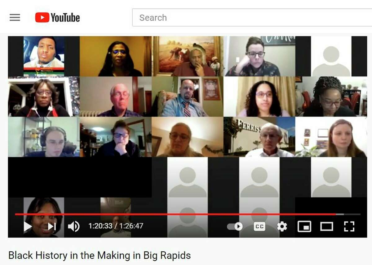 Faculty and students from Ferris joined city leaders and community members Thursday for a virtual panel discussion about succeeding in Big Rapids as a person of color. The event washosted by theBig Rapid's Social Equity Initiative Community Engagement Committee and the Ferris Women's Network. (Screenshot)