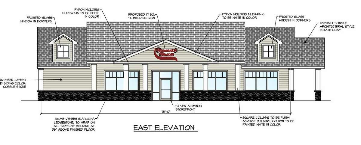 A rendering of the proposed Stewart's Shops store at the intersection of Delaware and Elm avenues.