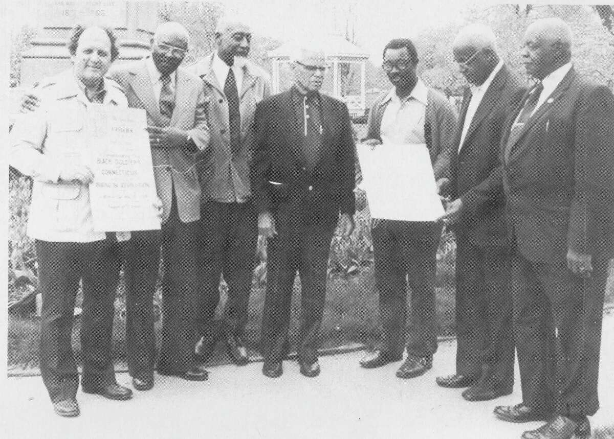 Member of Milford Black Founding Fathers Day Committee: Earl Gilmore, Rev. Charles D. Walker, Dr. John Rogers, Ernest Saunders, Samuel Roberts, Russell Hamilton and Andrew Morgan.