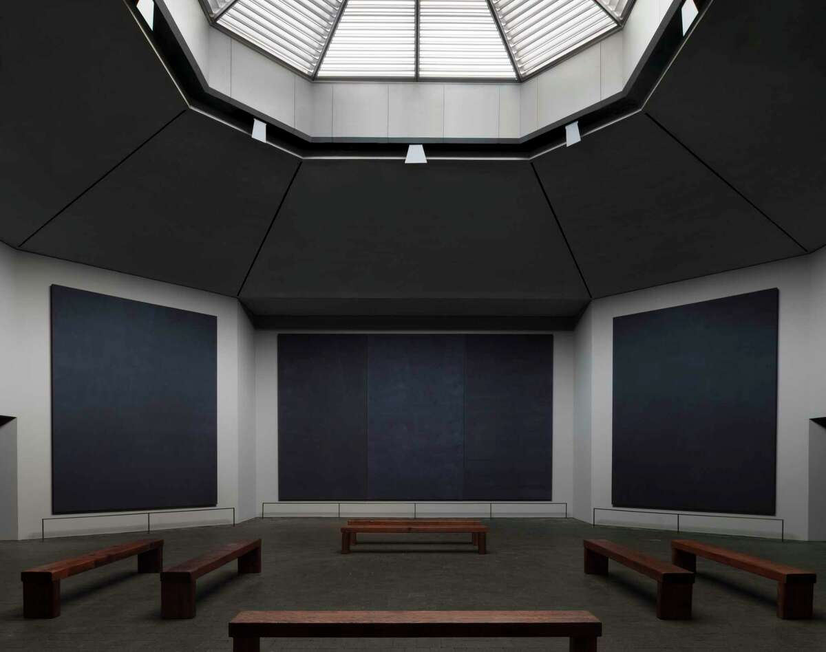 Interior of the Rothko Chapel with new skylight. The chapel reopened after a 18-month renovation in Oct. 2020. It celebrated its 50th anniversary in February 2021. Photo courtesy of the Rothko Chapel.