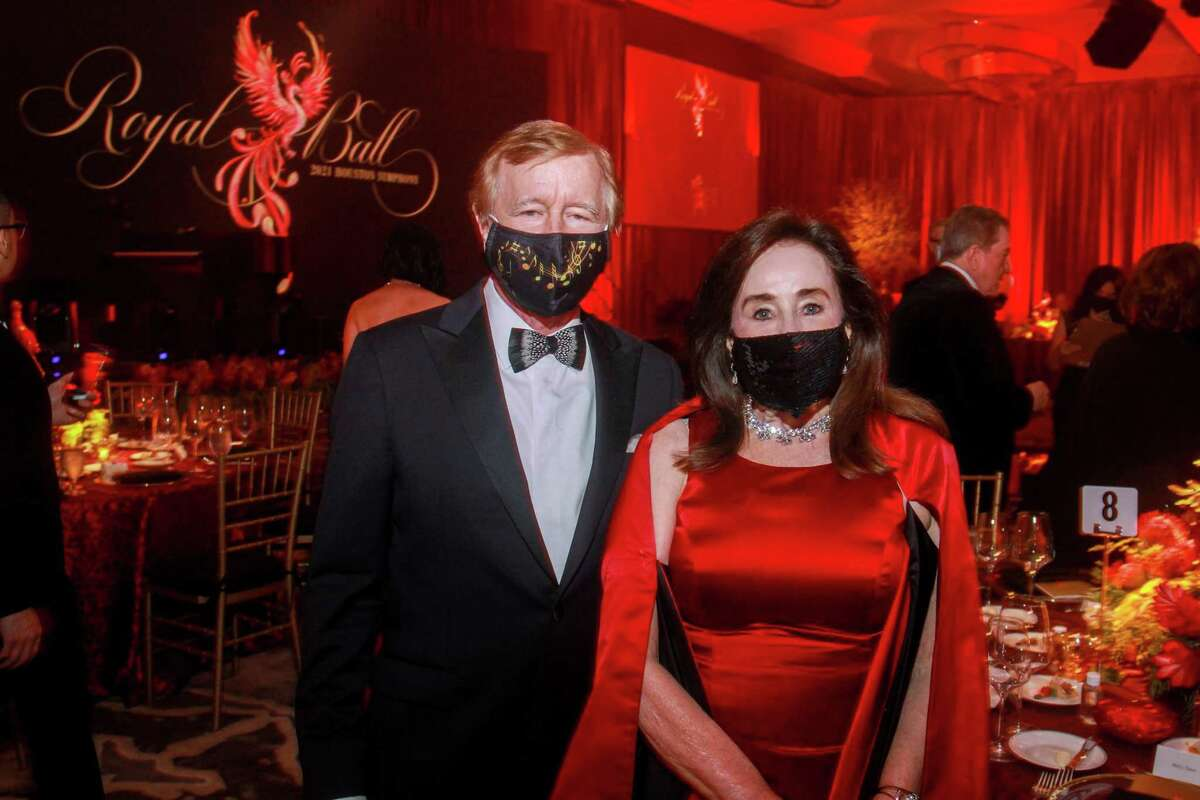 Jesse and Betty Tutor at the Houston Symphony Royal Ball in Houston, Texas on February 27, 2021.