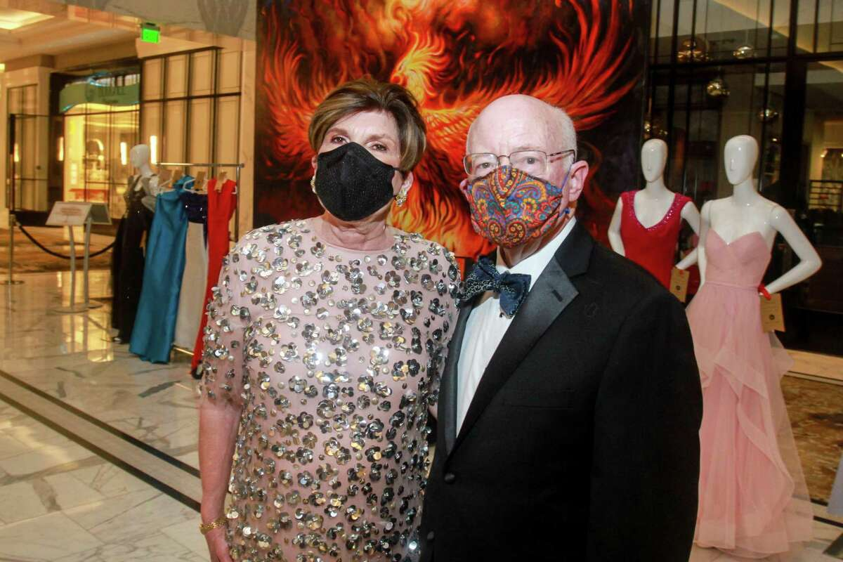 Robin Angly and Miles Smith at the Houston Symphony Royal Ball on February 27, 2021.