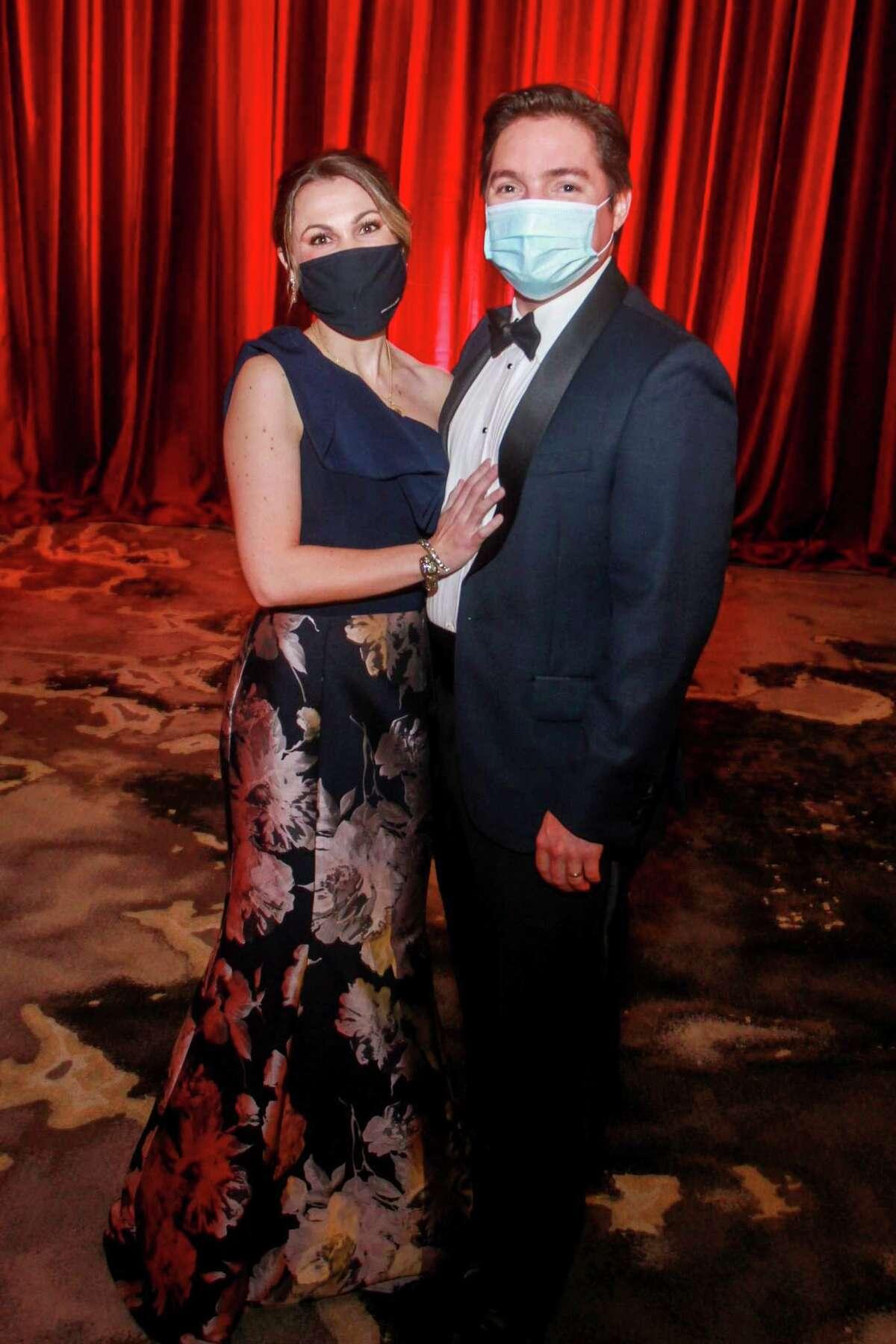 Mahalia and Daniel Doughty at the Houston Symphony Royal Ball in Houston, Texas on February 27, 2021.