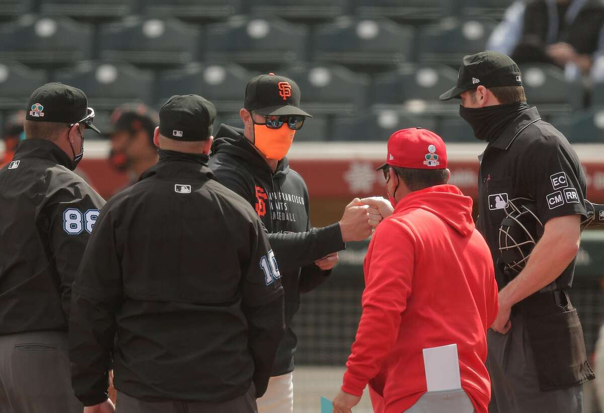 Manager Gabe Kapler and the Giants take on the Dodgers in a Cactus League game at 6 p.m. Tuesday (NBCSBA/104.5, 680).