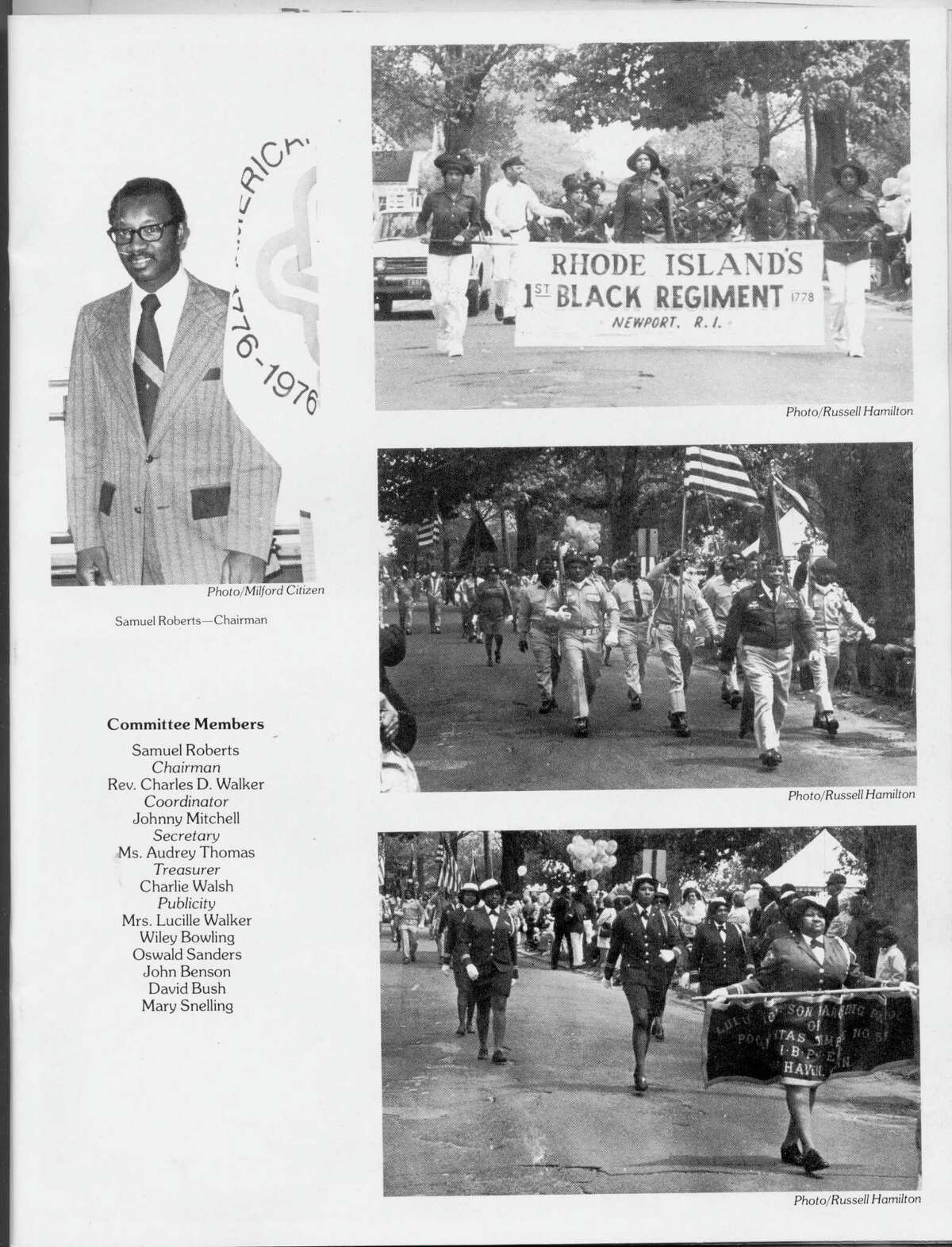 Rev. Charles D. Walker, pastor of the First Baptist Church, initiated a successful state-wide effort in 1976 to commemorate Connecticut's Black participants in the Revolutionary War.