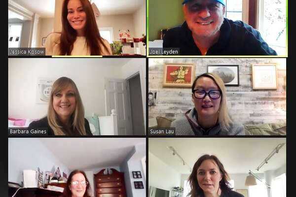 VaccineAngel moderators enjoying a virtual brunch yesterday.