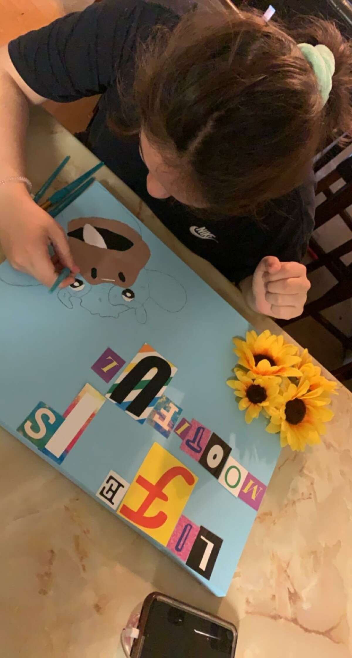 """Over 60 students from Cigarroa, Martin, and Nixon High Schools along with students from Cigarroa, Lamar, and Memorial Middle Schools entered art pieces for the 58th Annual Laredo International Fair & Exposition, """"Show-and-Go Expo"""