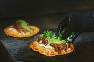As to what makes a great birria taco, Franco-Camacho says one of the keys is the types of peppers used in the broth, which will accentuate its spiciness and sweetness. For his he uses poblano and guajillo chili peppers.