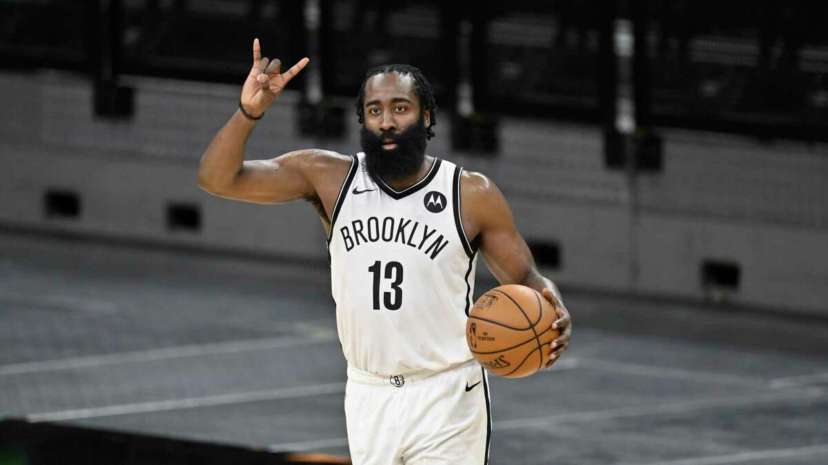 James Harden, shown here during an overtime win in San Antonio on March 1, no longer throws up the H.