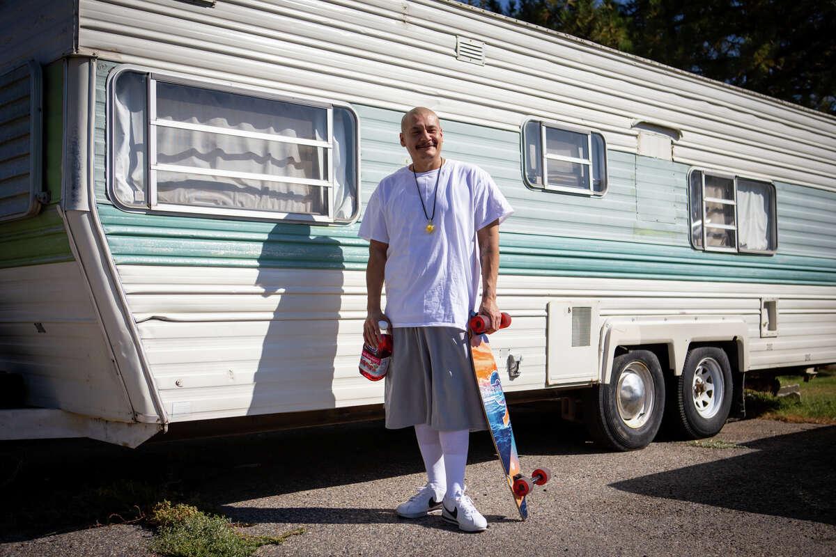 TikTok star Nathan Apodaca, aka 420doggface208, in Idaho Falls, Idaho.