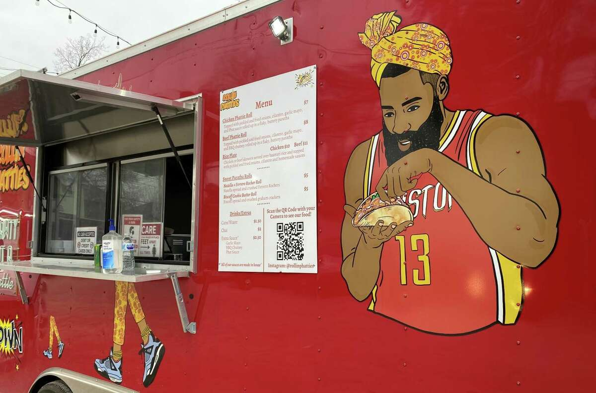When the Rollin Phatties food truck opened in Montrose in November 2020, this James Harden mural made perfect sense. Six weeks later, the Rockets traded Harden to Brooklyn.